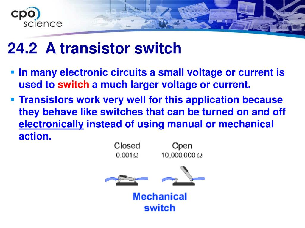 In many electronic circuits a small voltage or current is used to