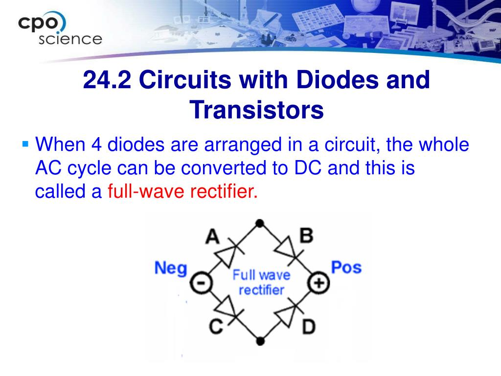 24.2 Circuits with Diodes and Transistors