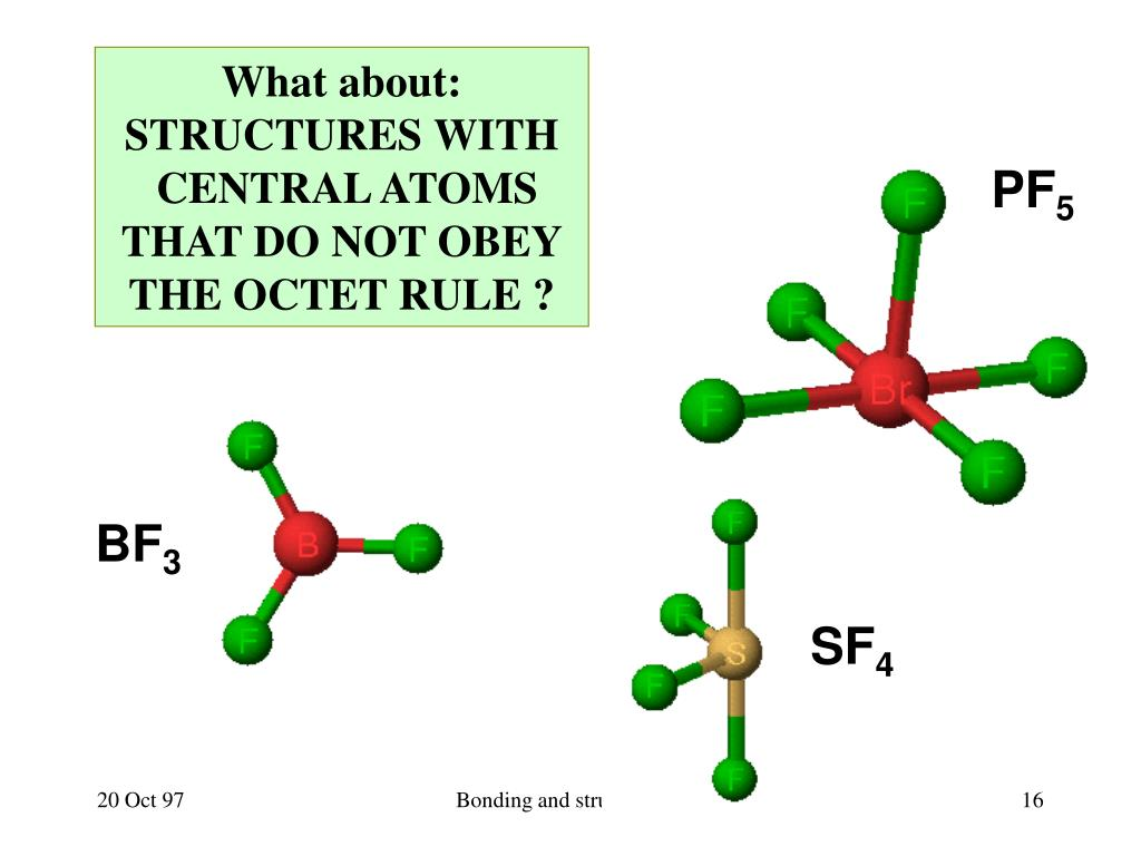PPT - Chemical Bonding and Molecular Structure (Chapter 9 ...