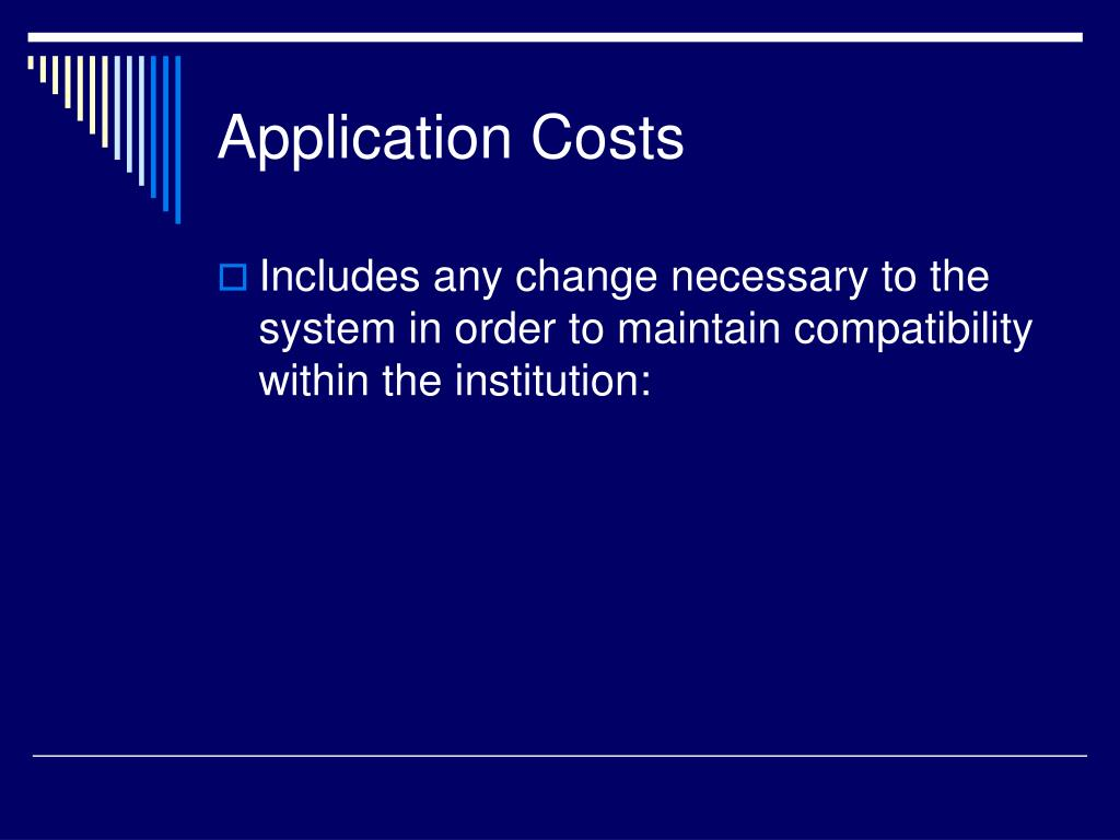 Application Costs