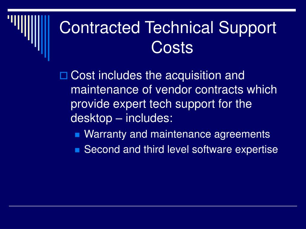Contracted Technical Support 			Costs