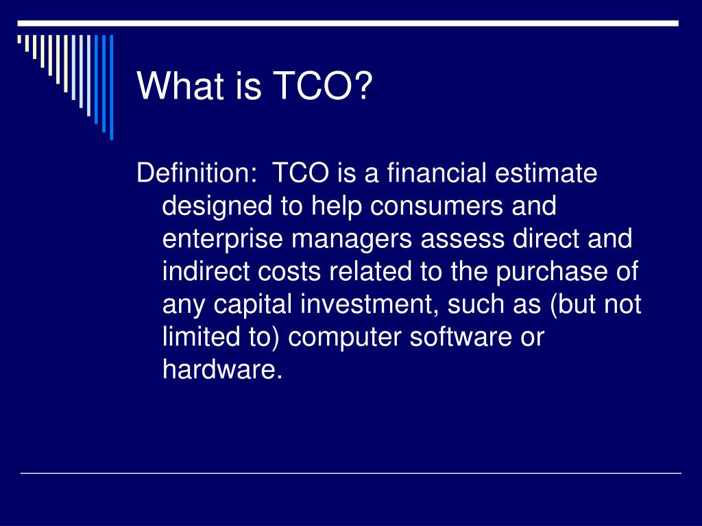 What is TCO?