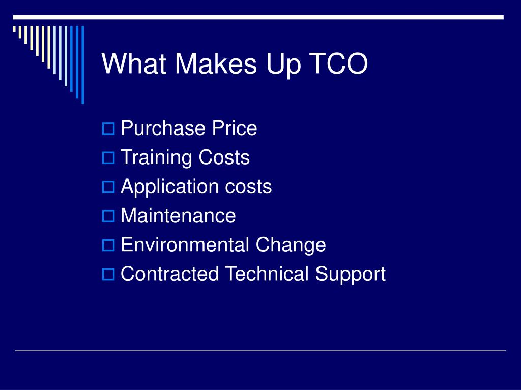 What Makes Up TCO