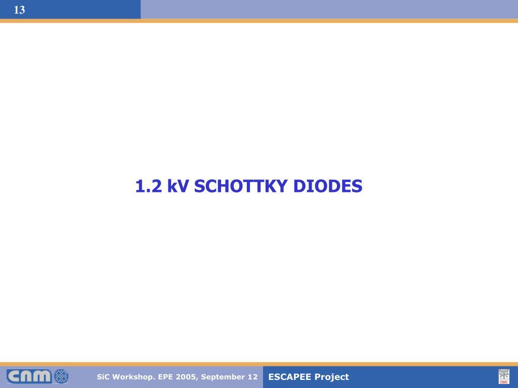 1.2 kV SCHOTTKY DIODES
