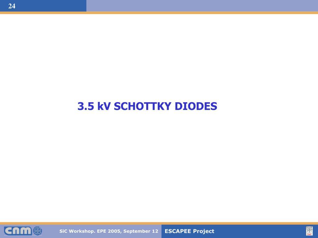 3.5 kV SCHOTTKY DIODES