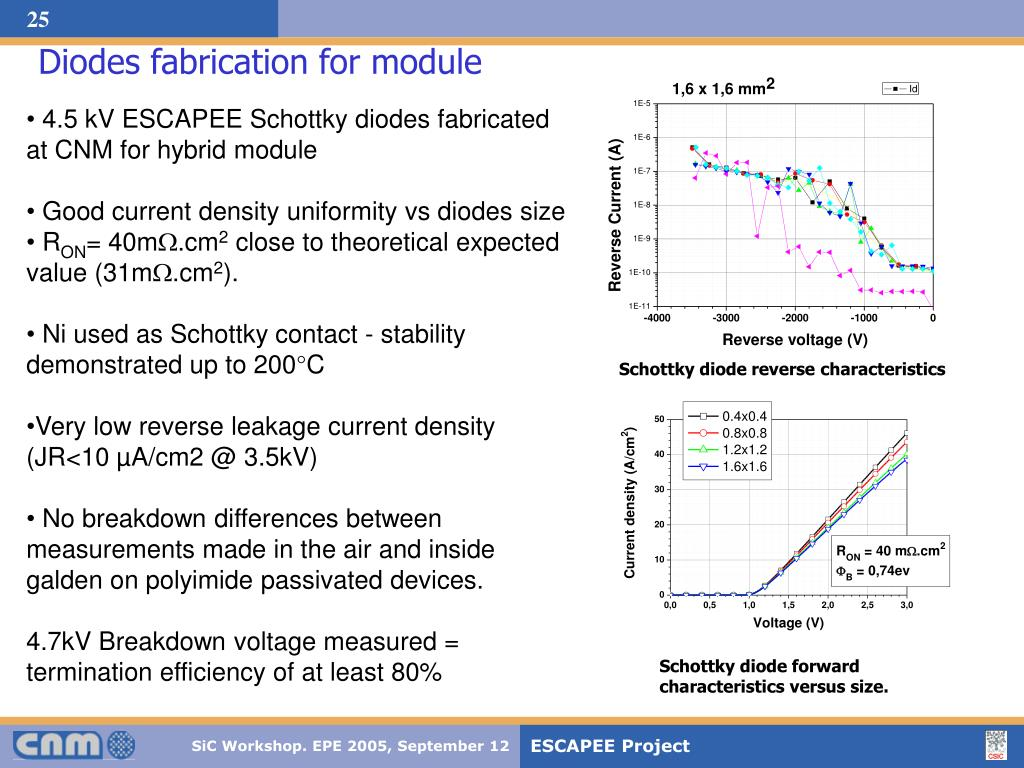 Diodes fabrication for module