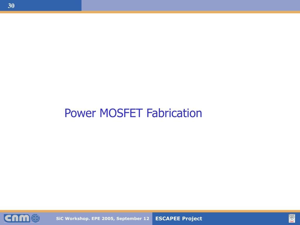 Power MOSFET Fabrication