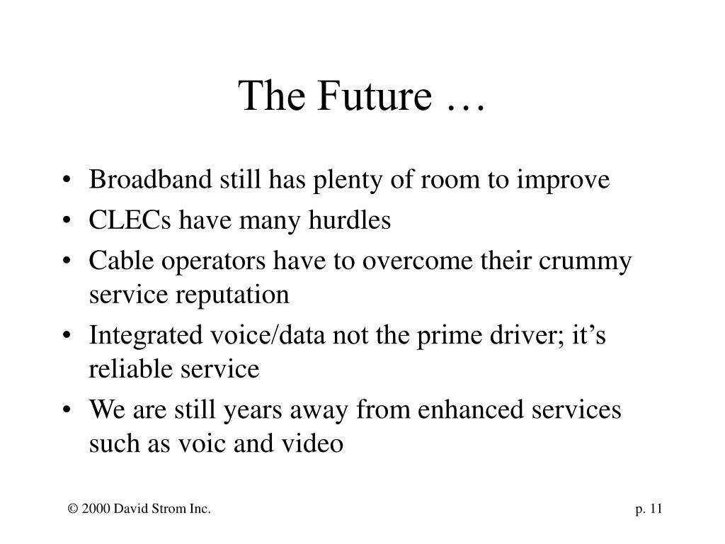 The Future …