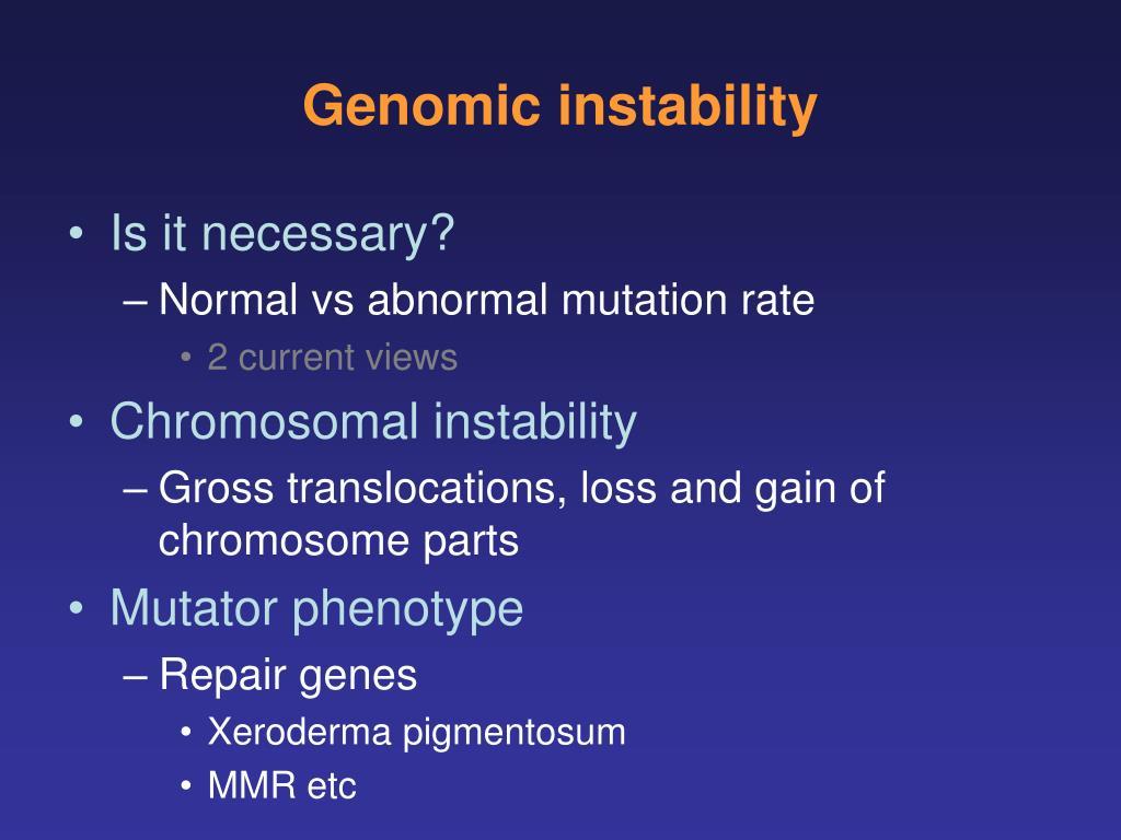 Genomic instability
