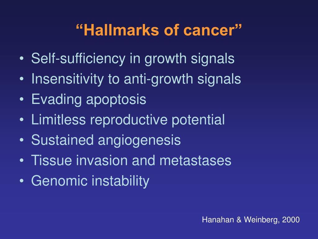"""Hallmarks of cancer"""