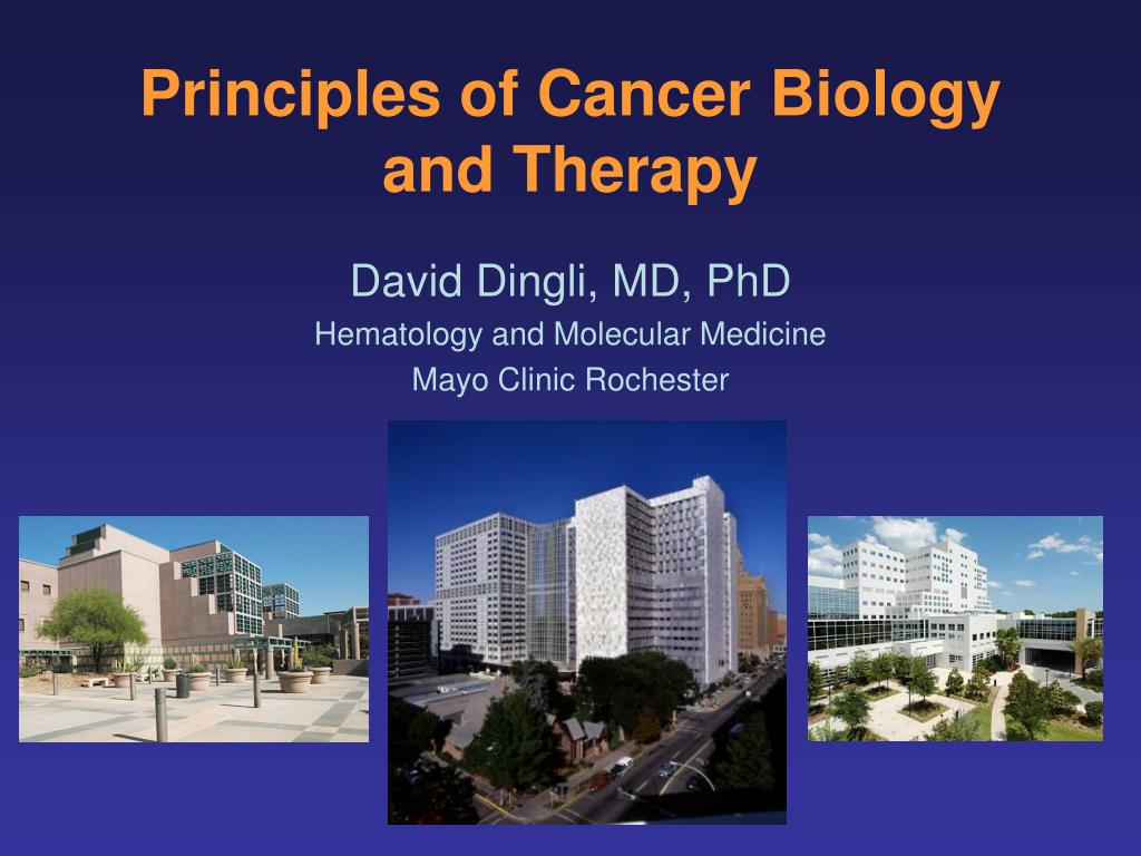 Principles of Cancer Biology and Therapy