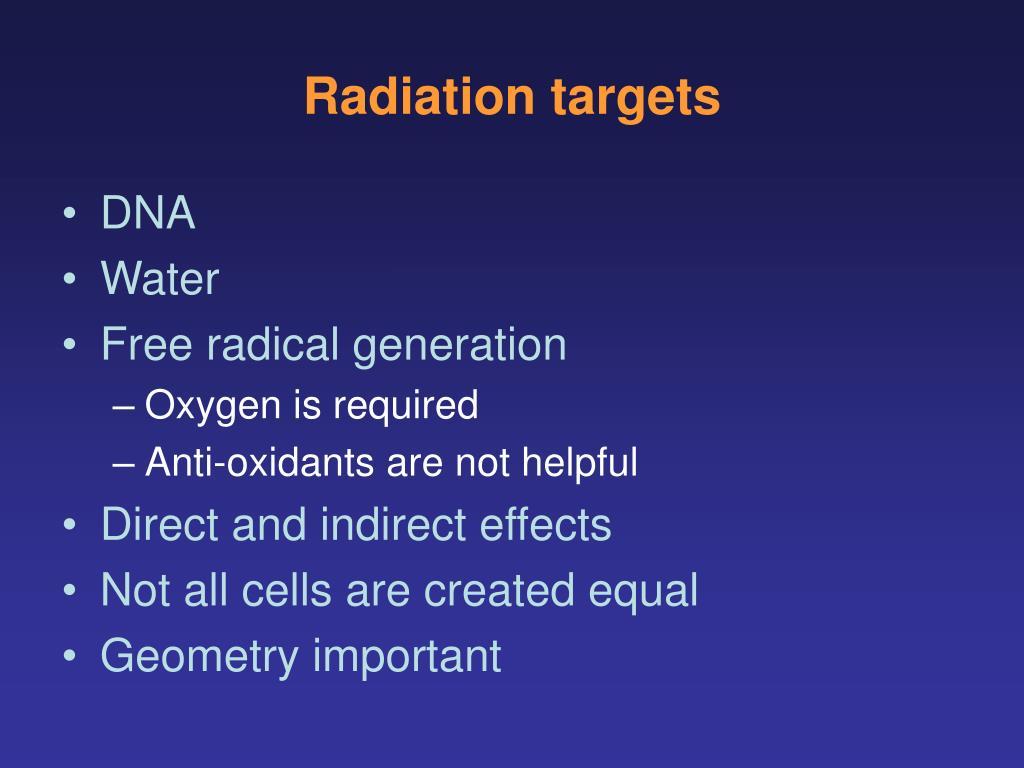 Radiation targets