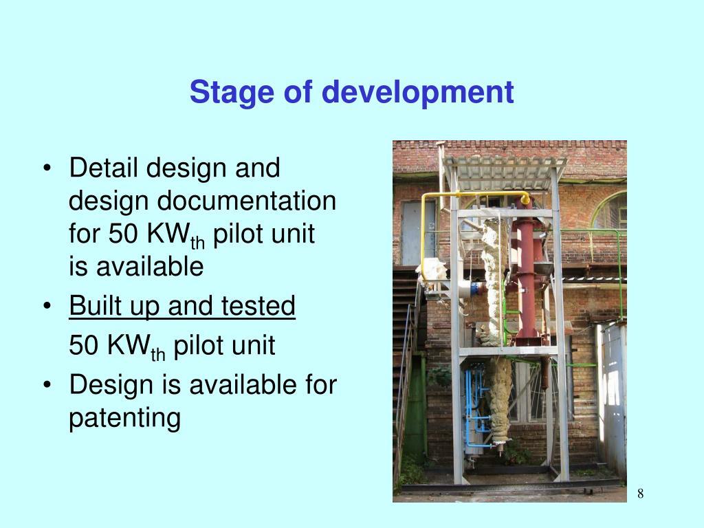 Stage of development