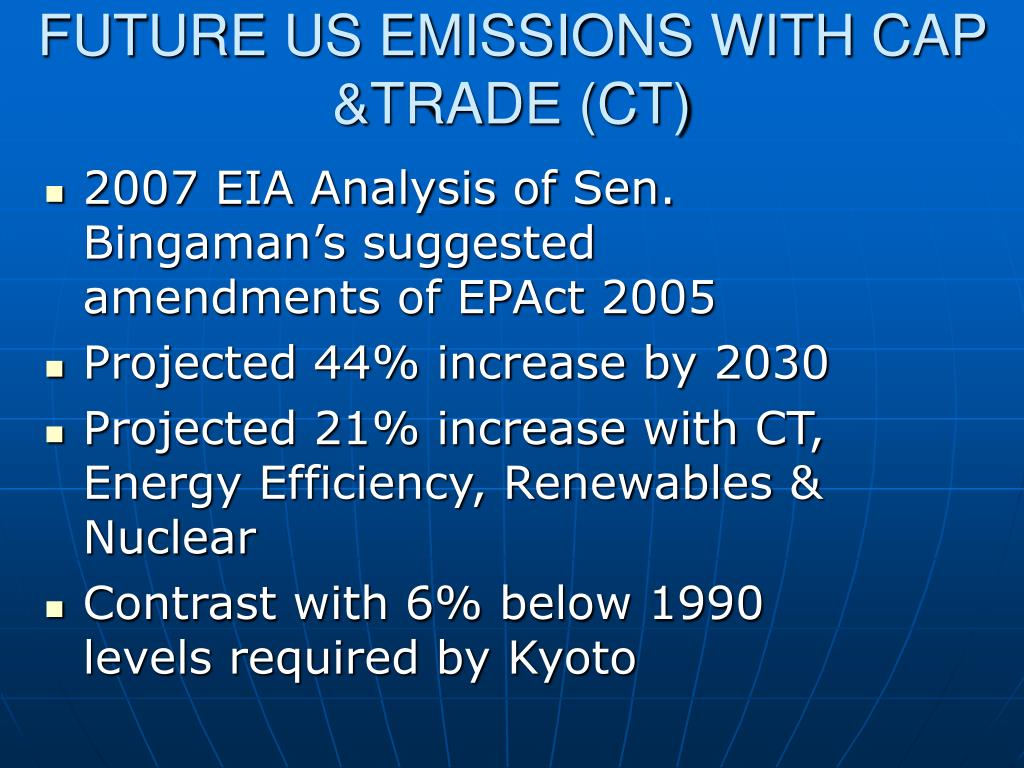 FUTURE US EMISSIONS WITH CAP &TRADE (CT)