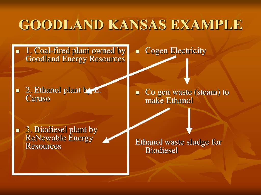 1. Coal-fired plant owned by Goodland Energy Resources