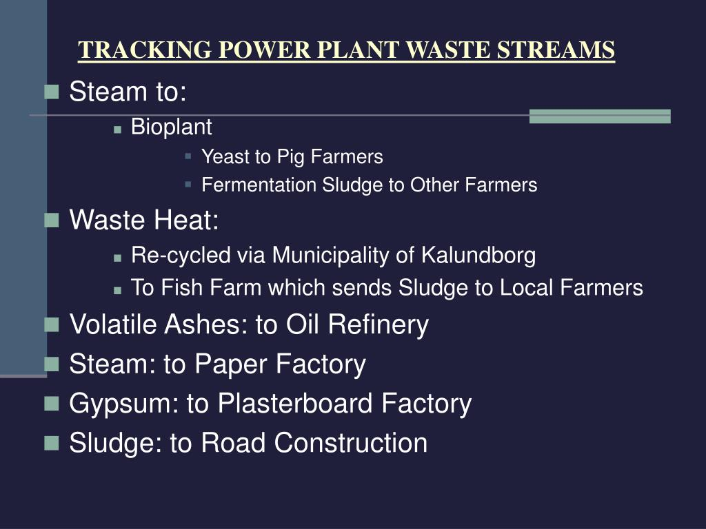 TRACKING POWER PLANT WASTE STREAMS