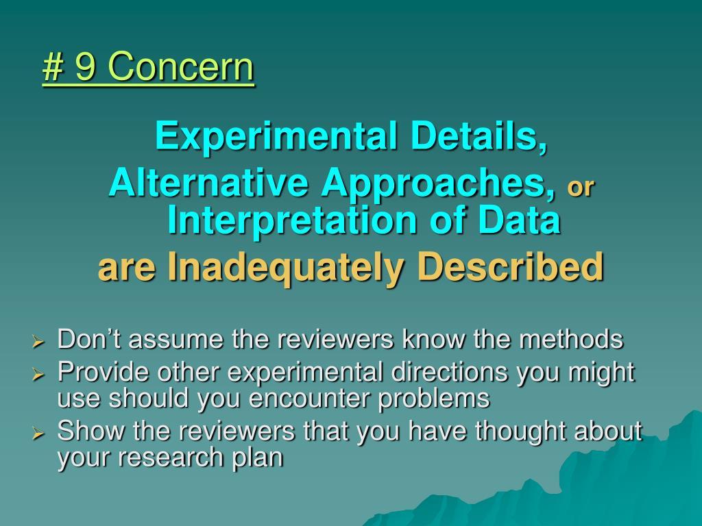 # 9 Concern
