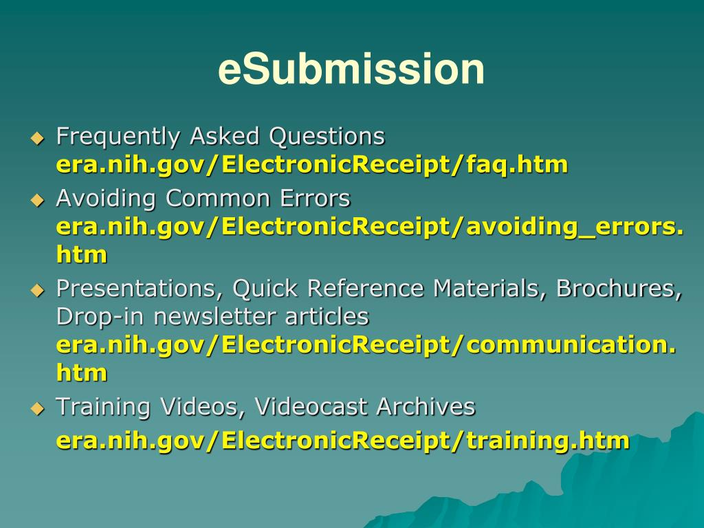 eSubmission