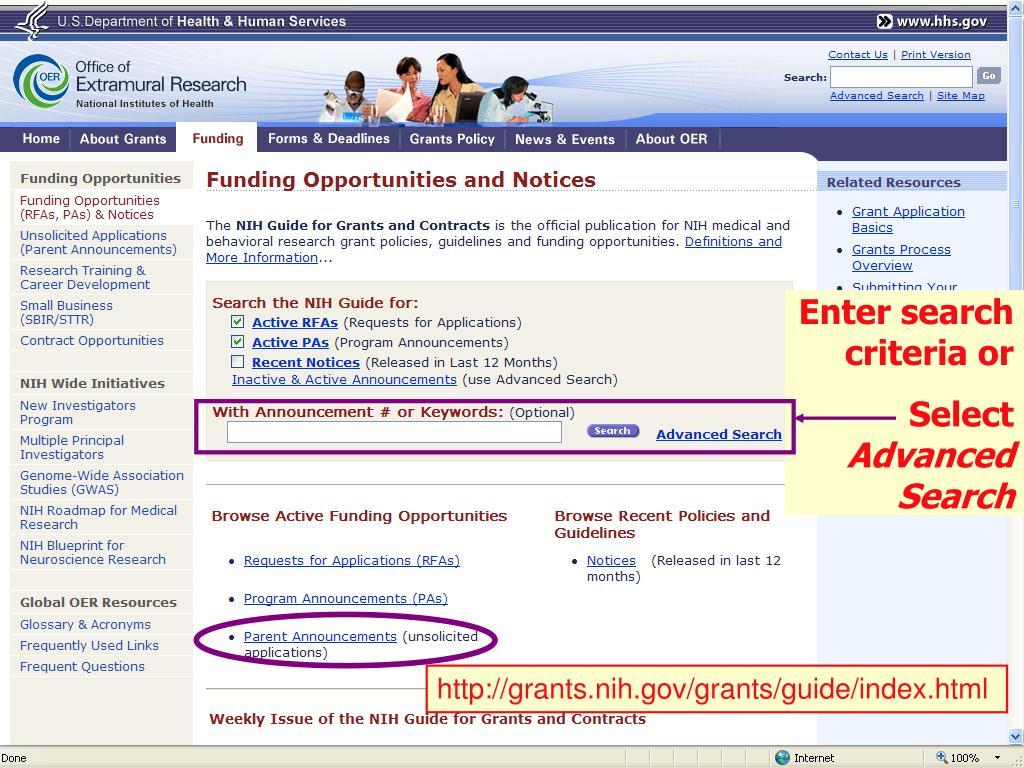 Enter search criteria or