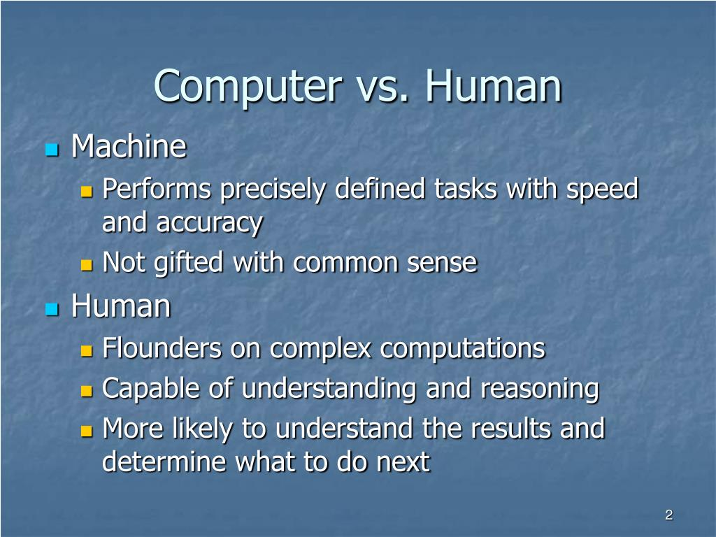 Computer vs. Human