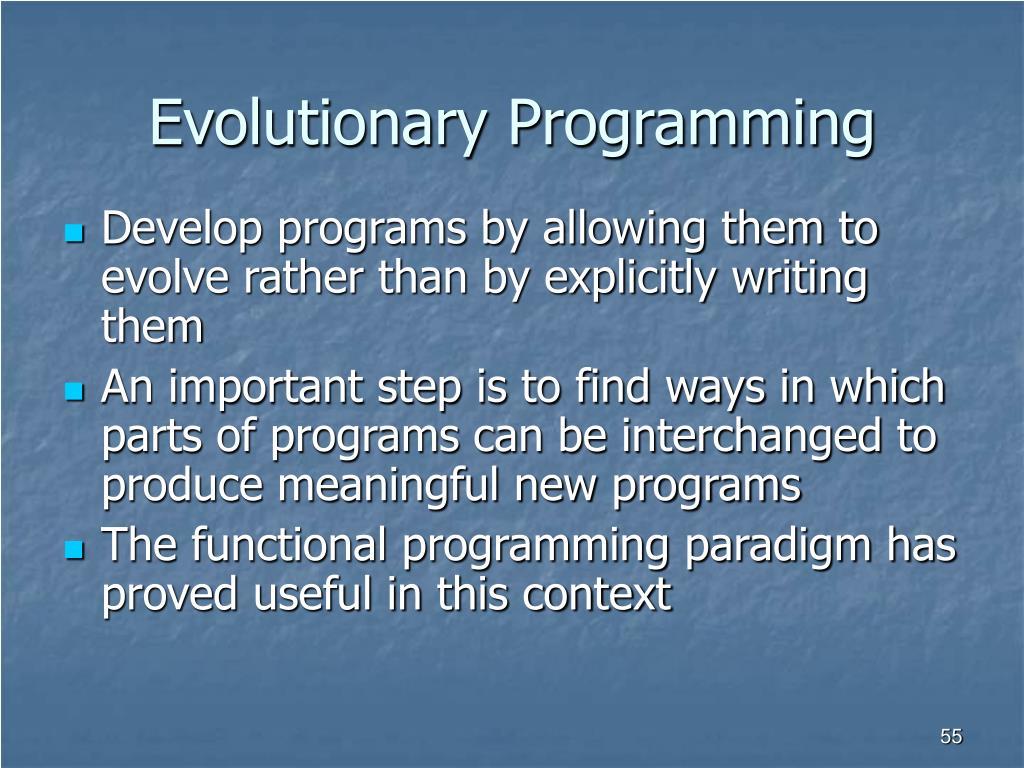 Evolutionary Programming