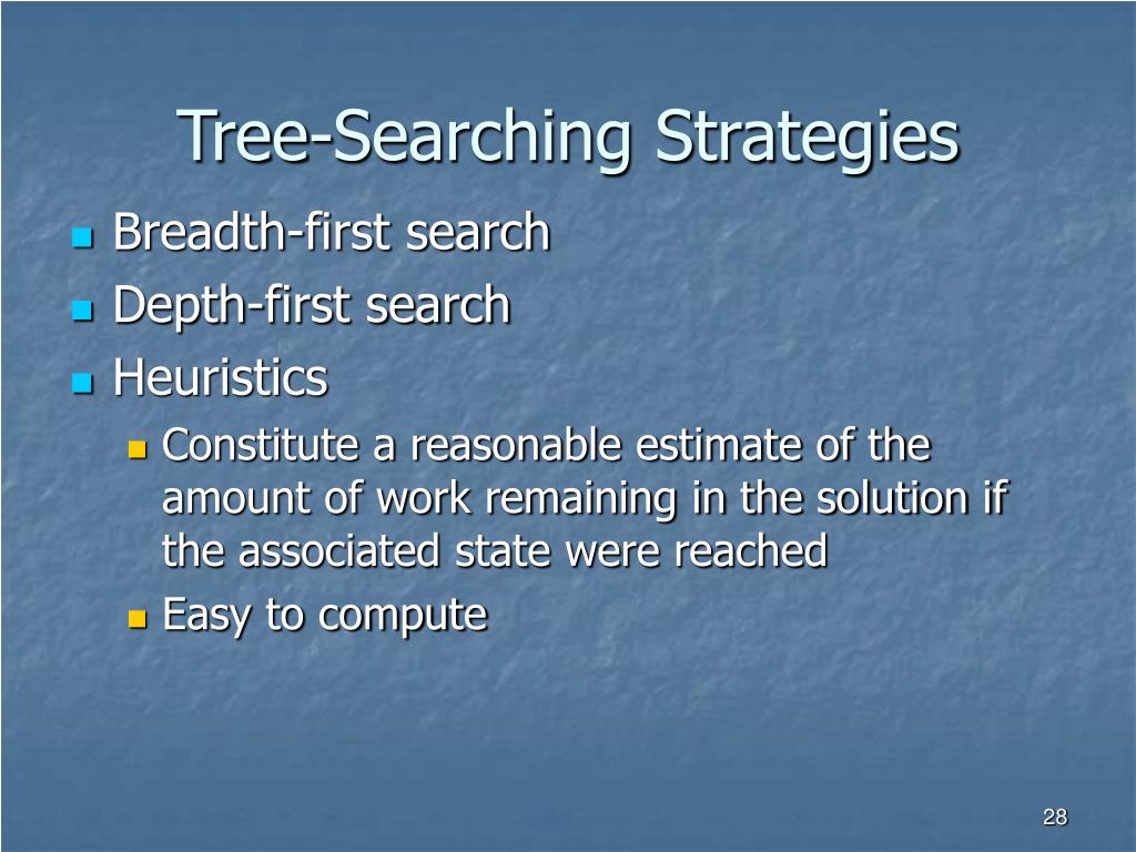 Tree-Searching Strategies