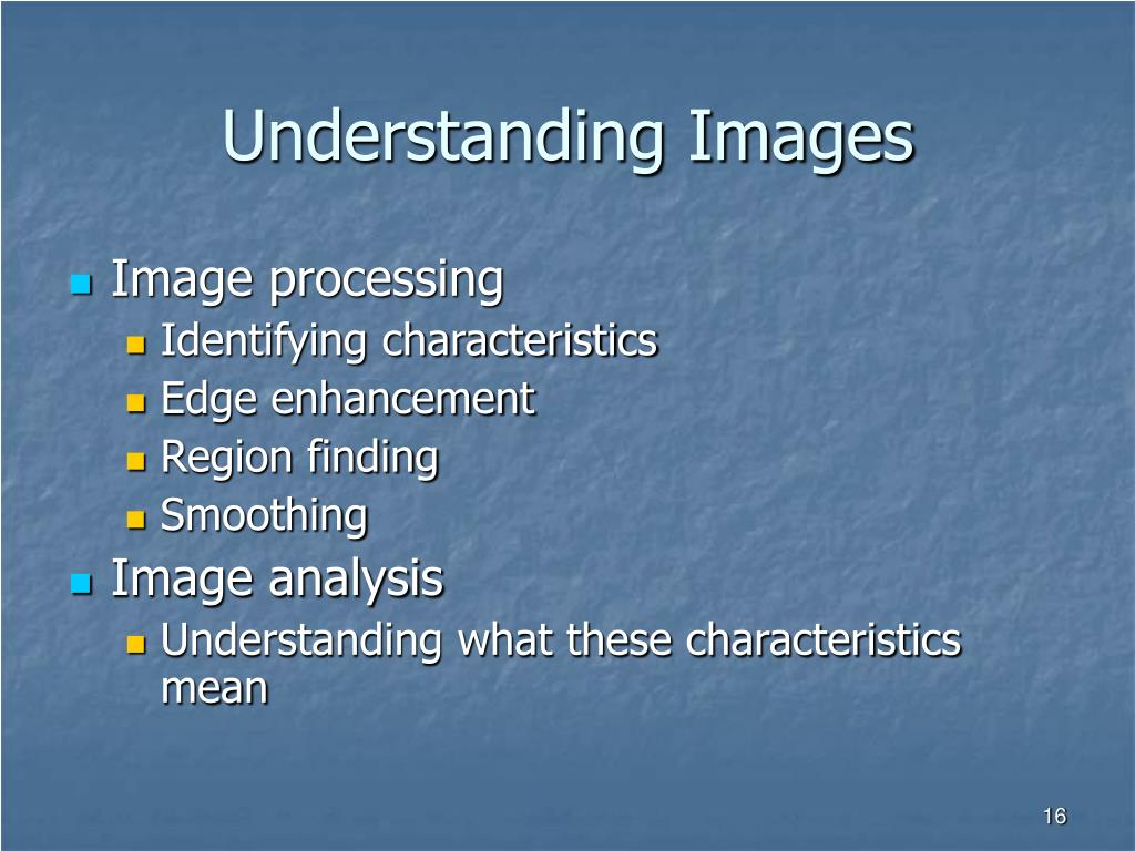 Understanding Images