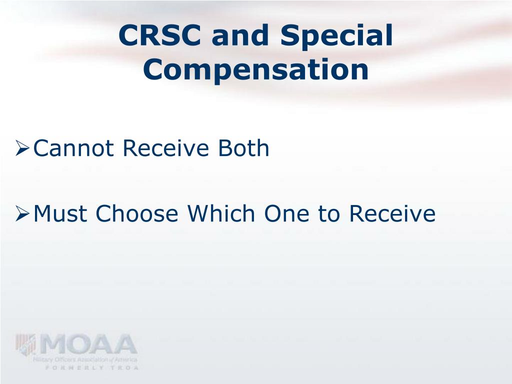CRSC and Special Compensation