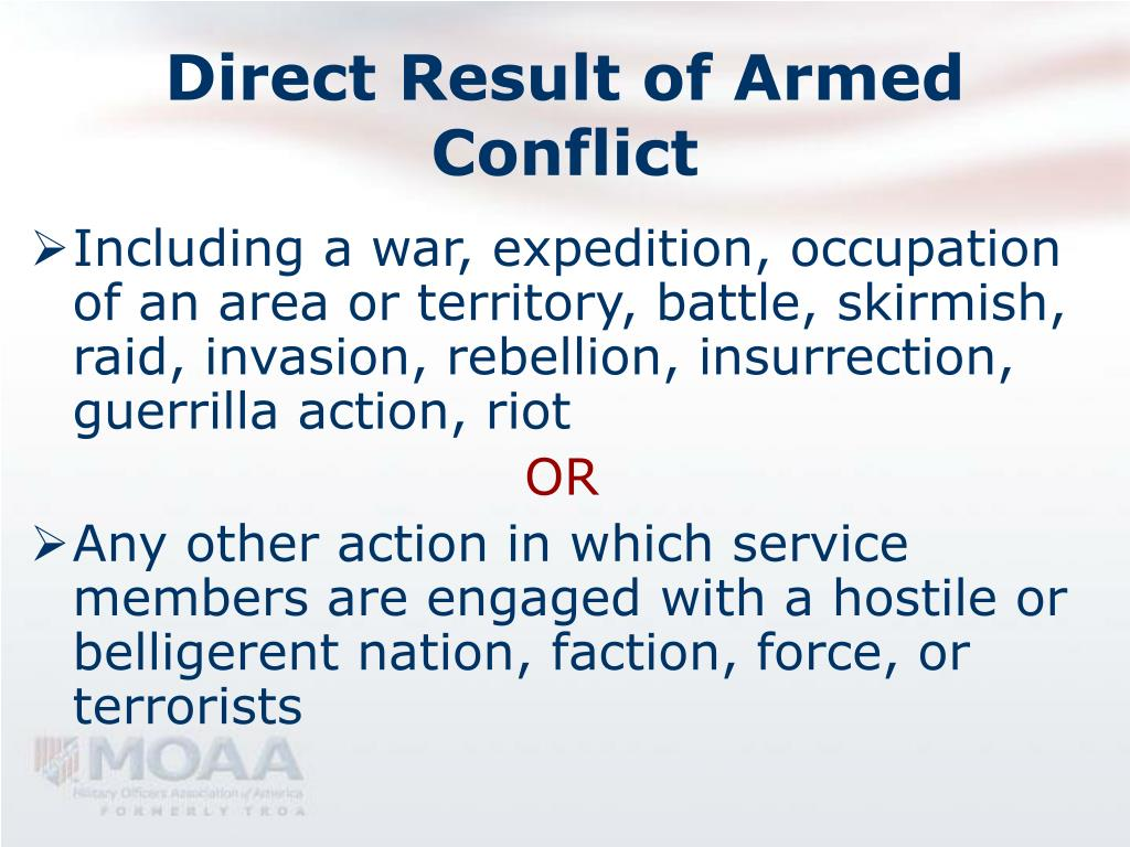 Direct Result of Armed Conflict