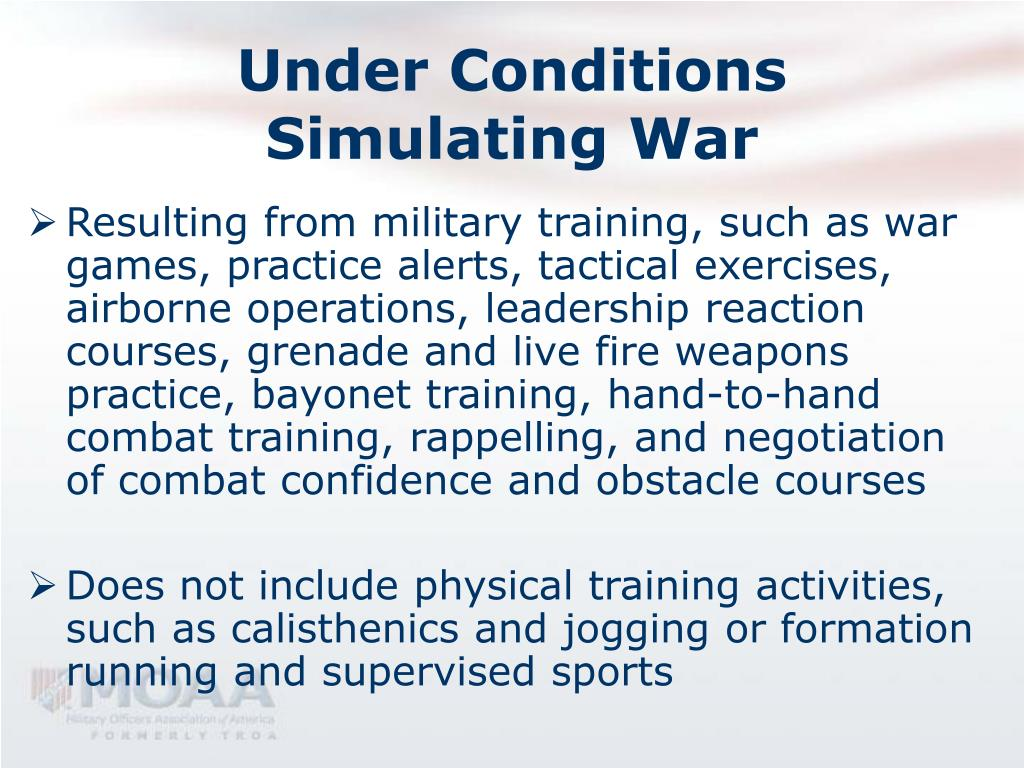 Under Conditions Simulating War