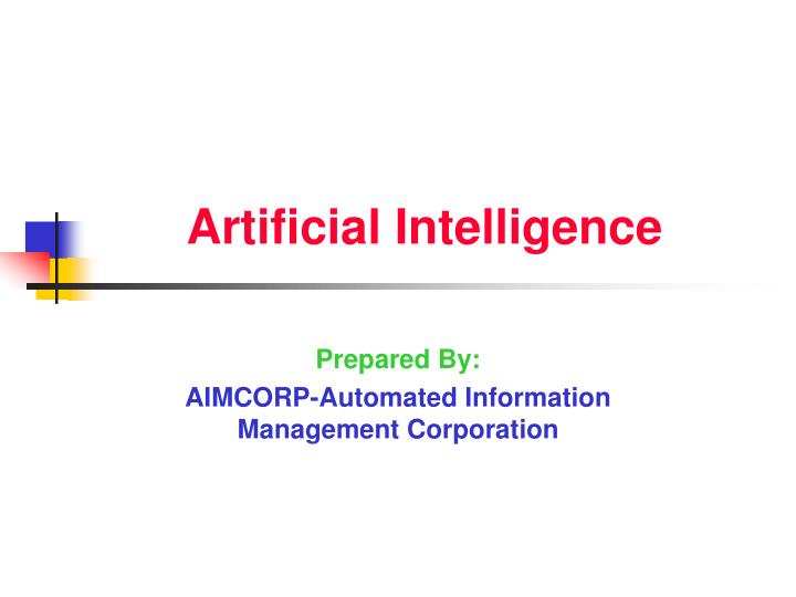 Artificial Intelligence Seminar pdf Report and ppt