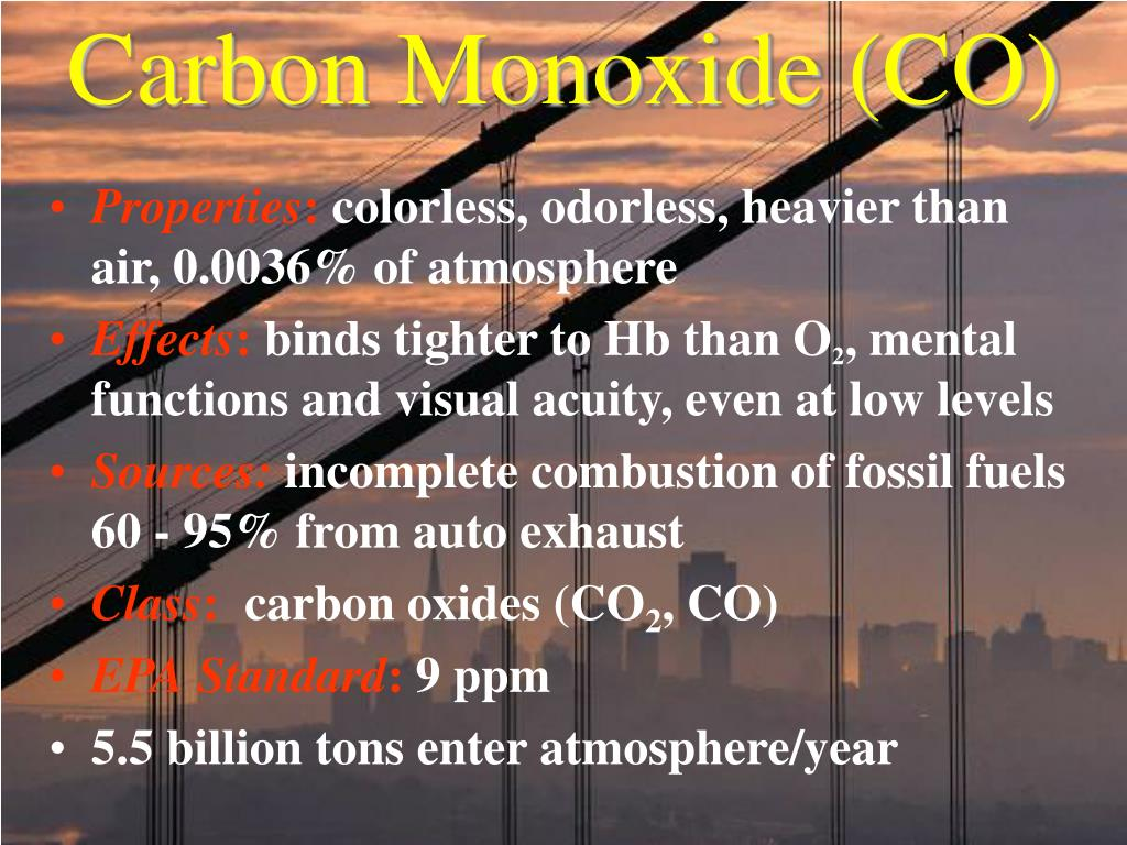 Carbon Monoxide (CO)