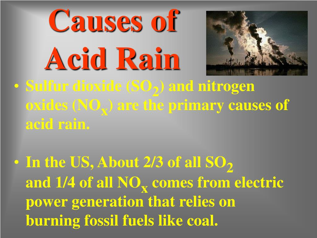 Causes of Acid Rain