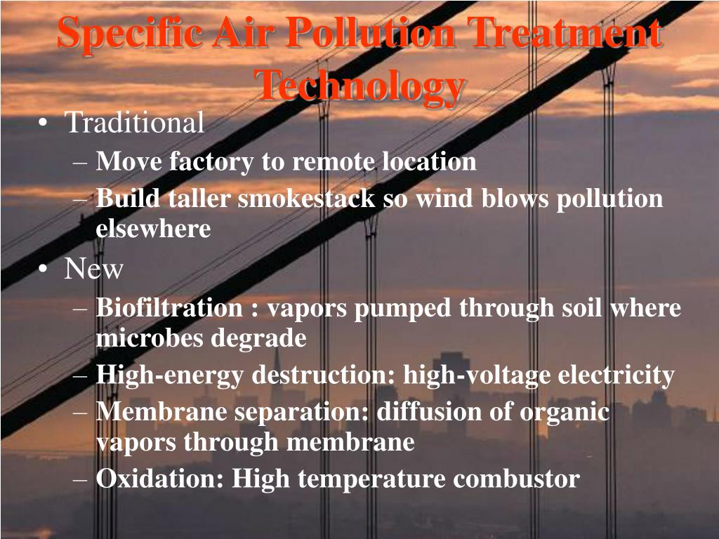 Specific Air Pollution Treatment Technology