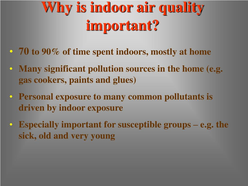 Why is indoor air quality important?