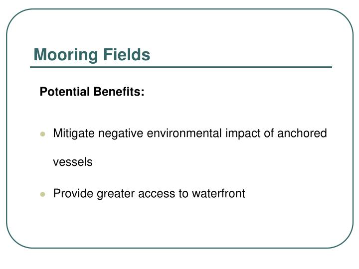 Mooring fields