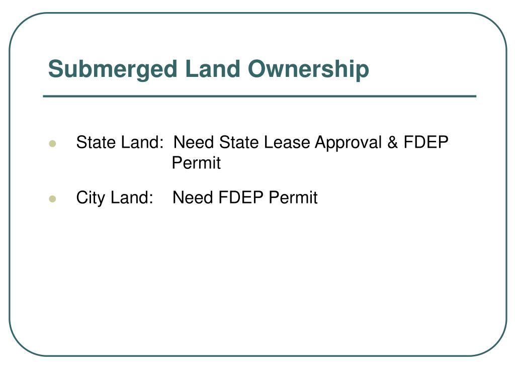 Submerged Land Ownership