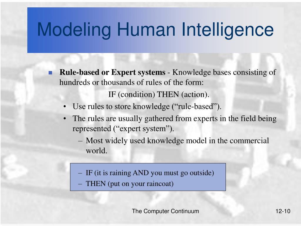 Modeling Human Intelligence
