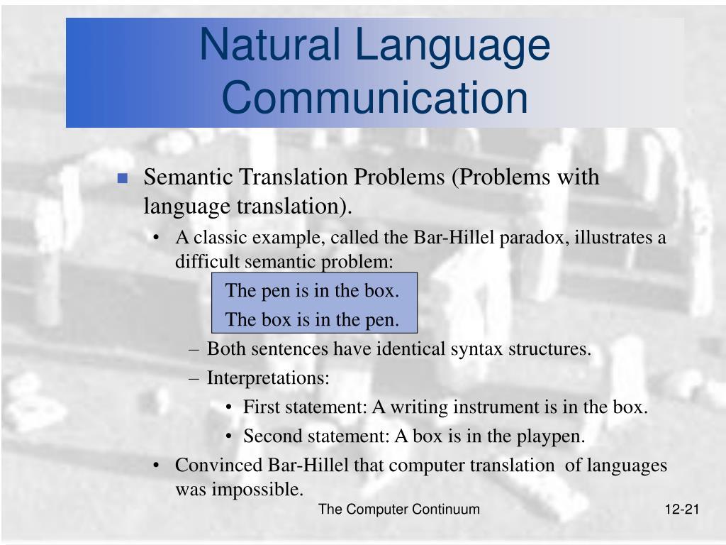 Natural Language Communication
