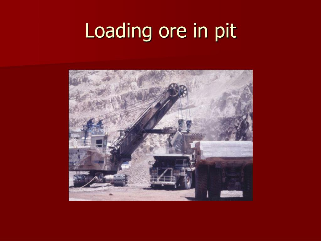 Loading ore in pit