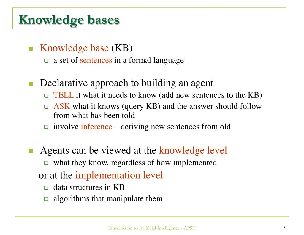 Knowledge bases