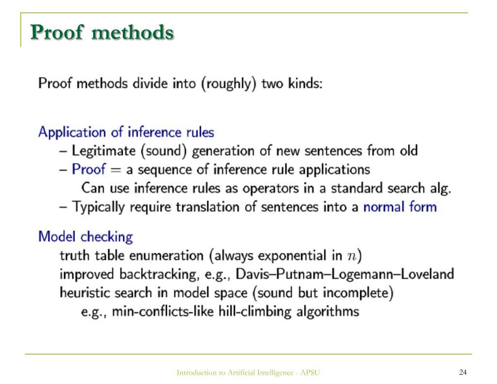 Proof methods
