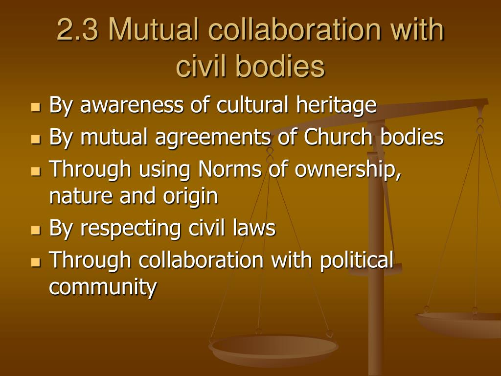 2.3 Mutual collaboration with civil bodies