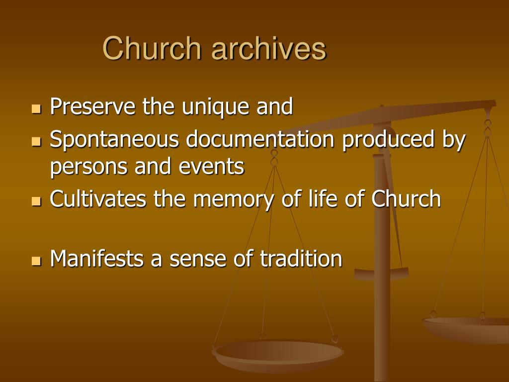 Church archives