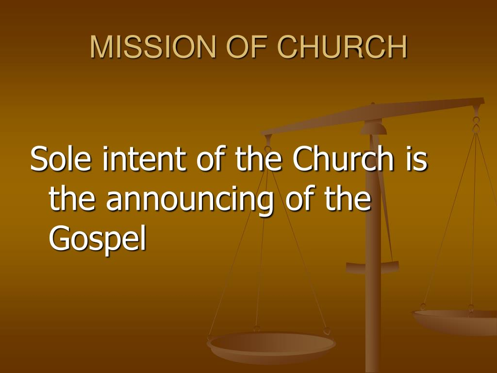 MISSION OF CHURCH