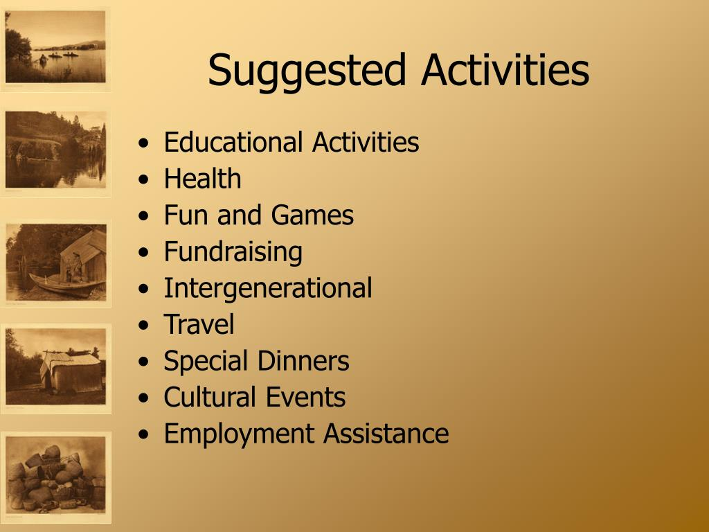 Suggested Activities