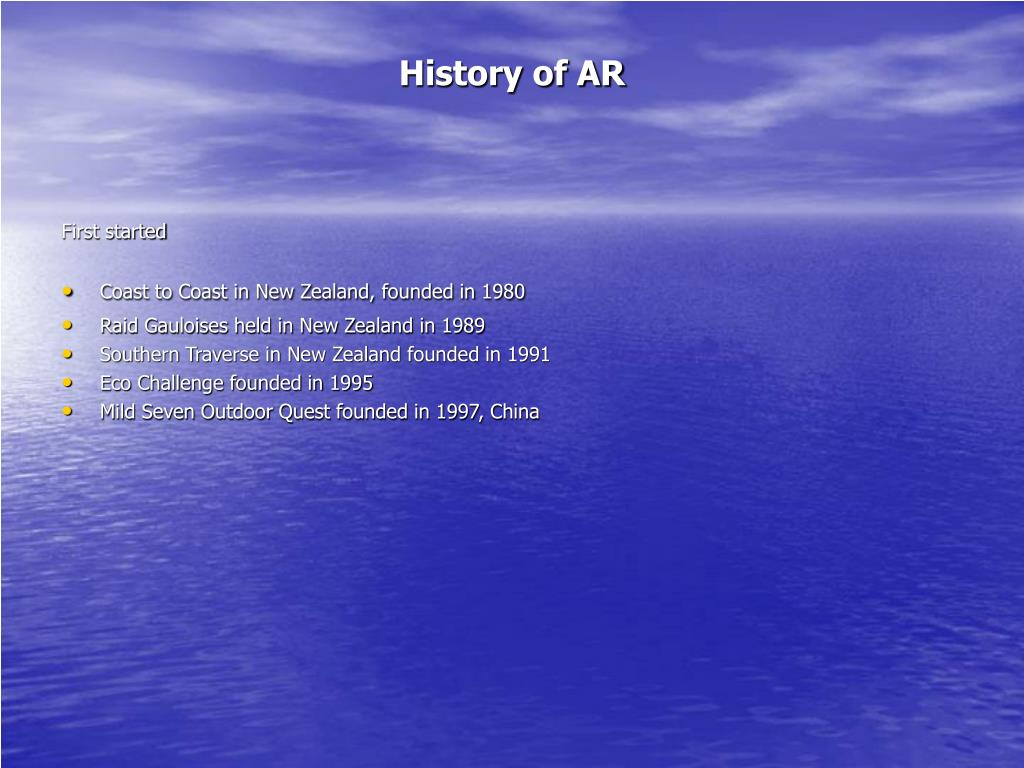 History of AR