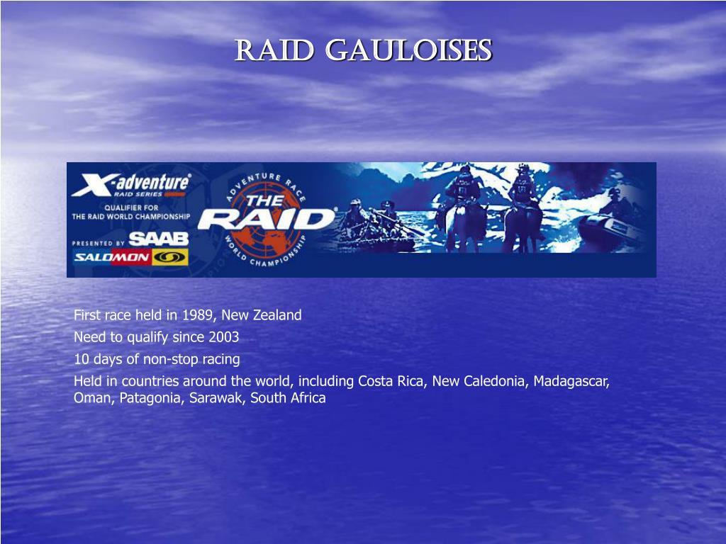 RAID GAULOISES