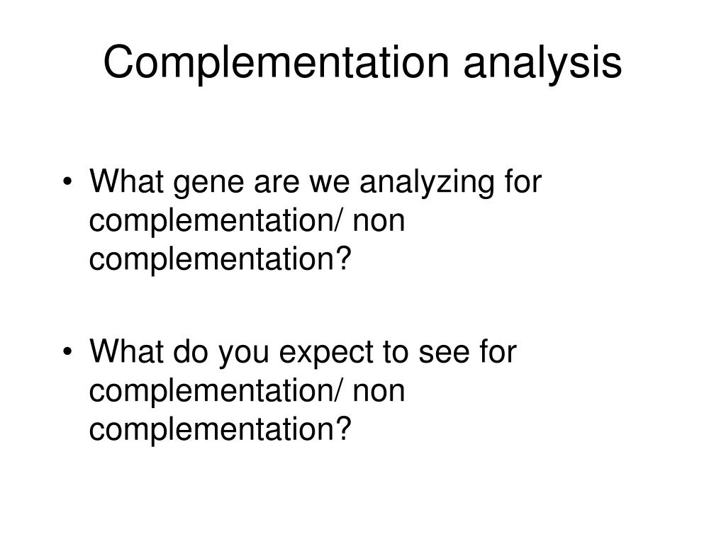 Complementation analysis
