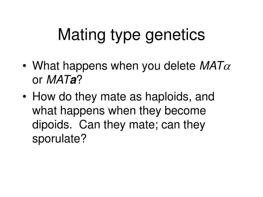 Mating type genetics